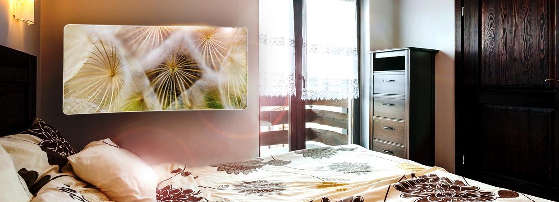 Infra fűtő panel hálószobába